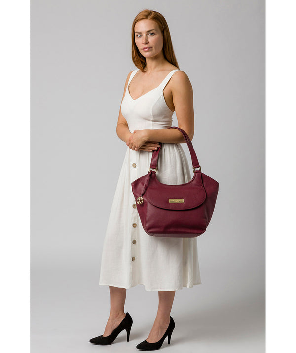 'Grace' Pomegranate Leather Tote Bag image 2