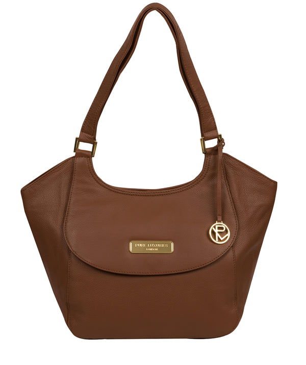 'Grace' Tan Leather Tote Bag image 1