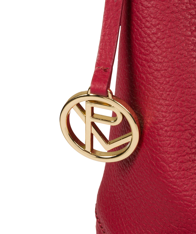 'Imogen' Berry Pink Leather Shoulder Bag Pure Luxuries London