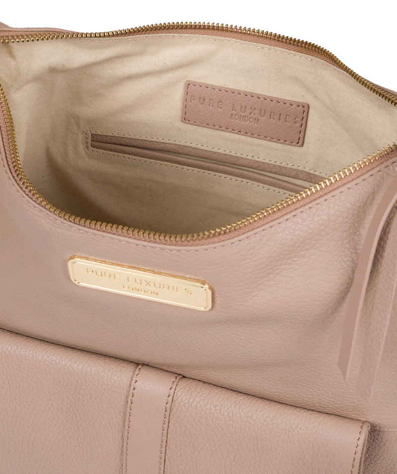 'Imogen' Blush Pink Leather Shoulder Bag image 4