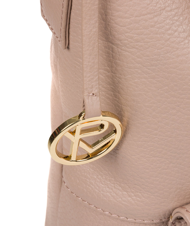 'Imogen' Blush Pink Leather Shoulder Bag image 6