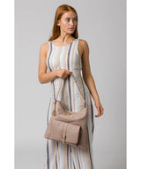 'Imogen' Blush Pink Leather Shoulder Bag image 2