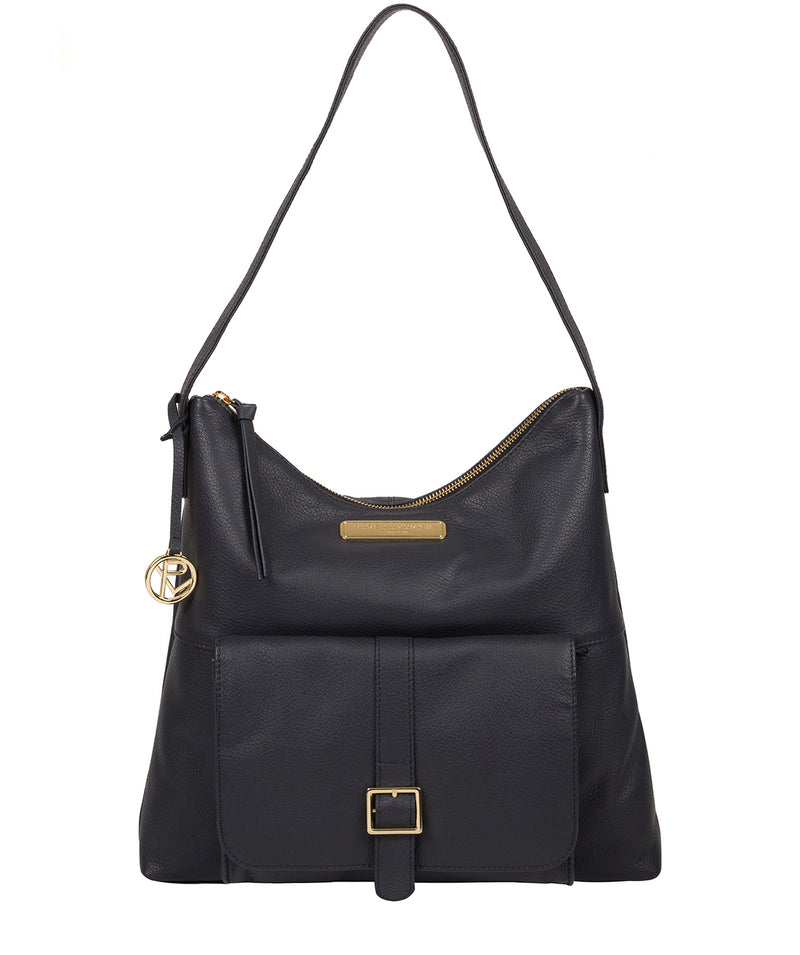 'Imogen' Navy Leather Shoulder Bag image 1