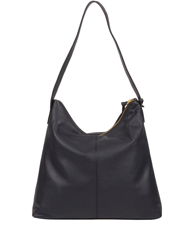 'Imogen' Navy Leather Shoulder Bag image 3