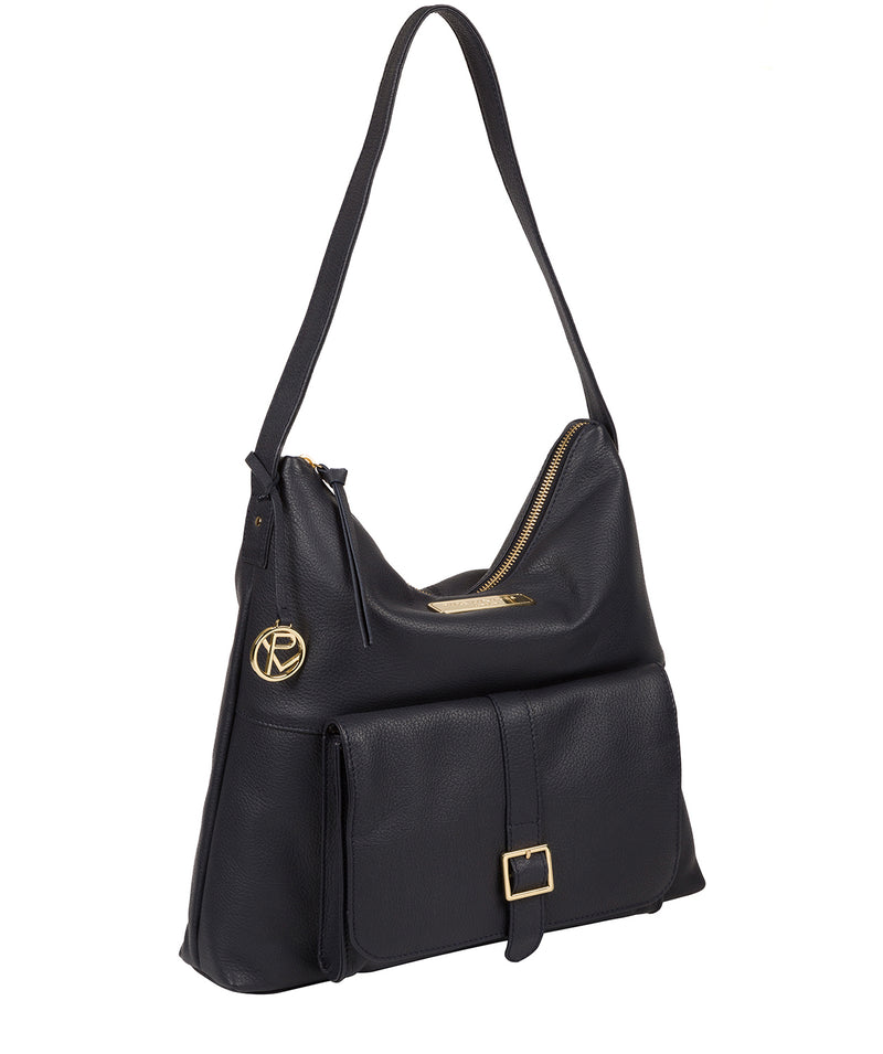 'Imogen' Navy Leather Shoulder Bag image 5