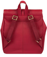 'Daisy' Berry Red Leather Backpack image 3