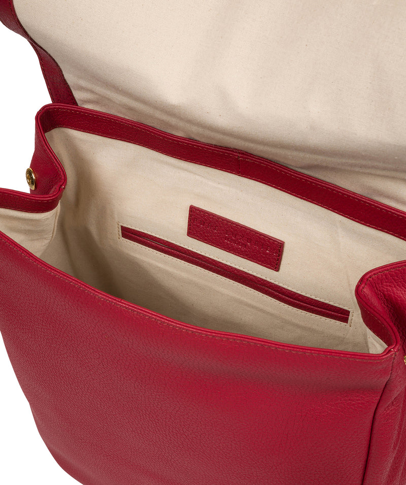 'Daisy' Berry Red Leather Backpack image 4
