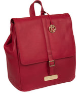 'Daisy' Berry Red Leather Backpack image 5