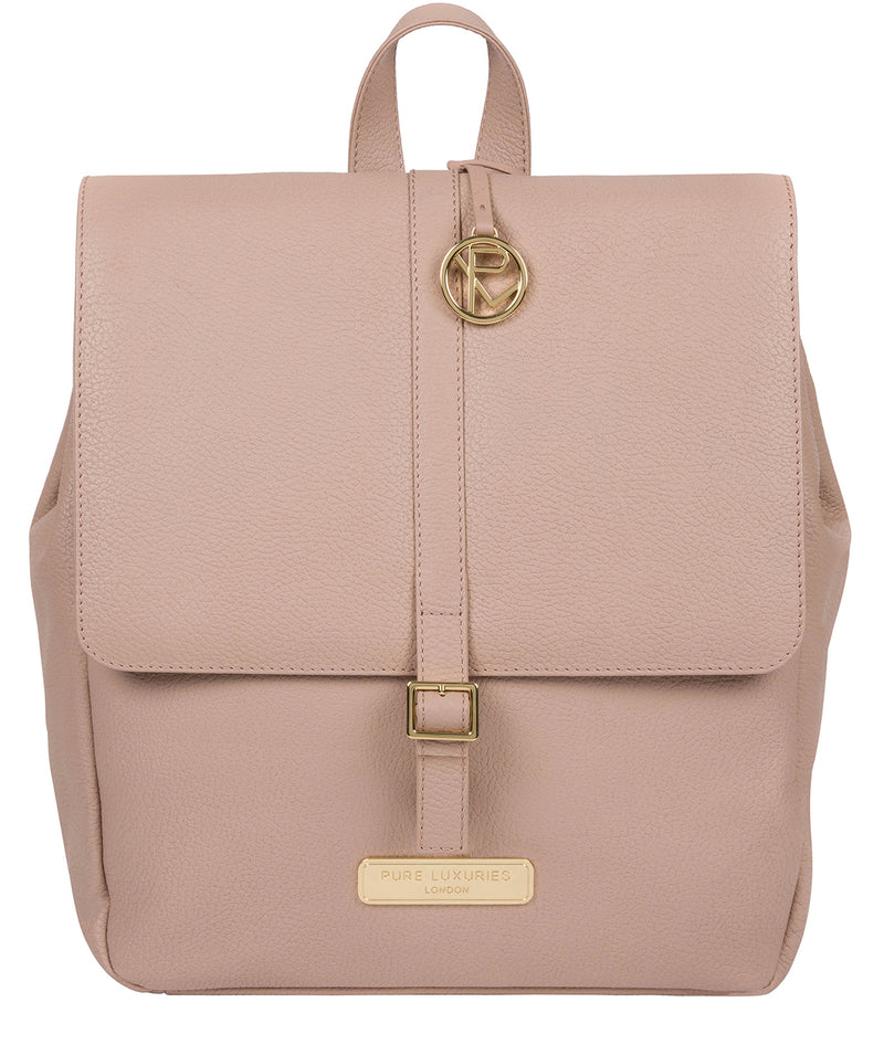 'Daisy' Blush Pink Leather Backpack image 1