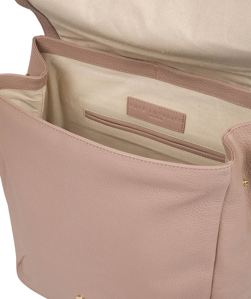 'Daisy' Blush Pink Leather Backpack image 4