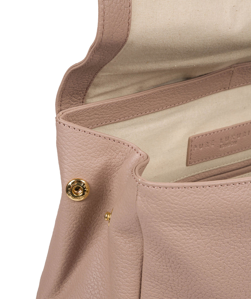 'Daisy' Blush Pink Leather Backpack image 7