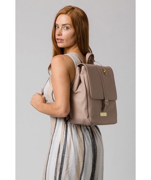 'Daisy' Blush Pink Leather Backpack image 2