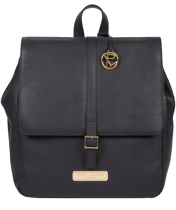 'Daisy' Navy Leather Backpack image 1