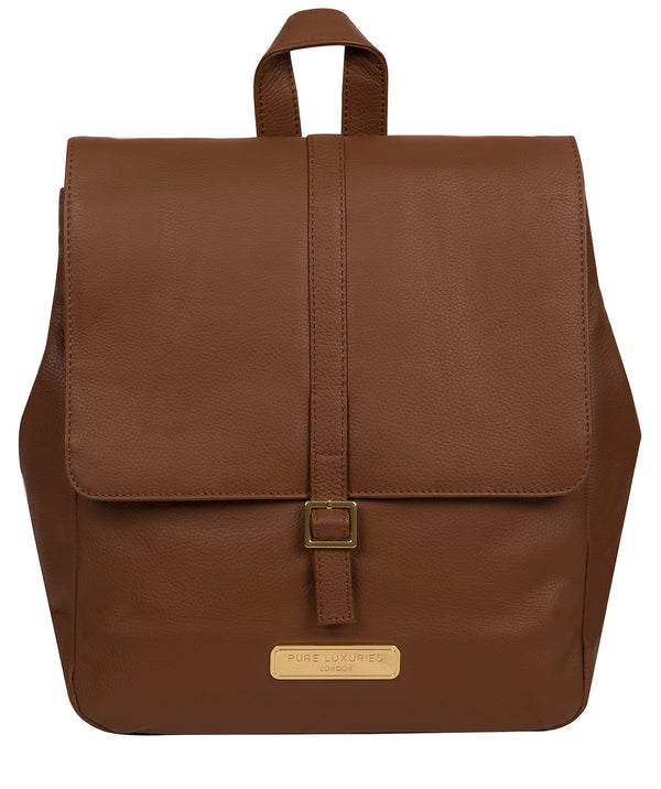 'Daisy' Tan Leather Backpack image 1