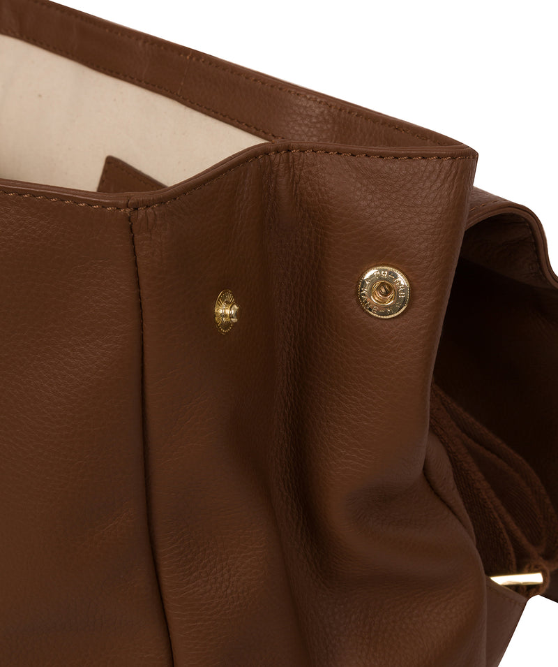 'Daisy' Tan Leather Backpack image 3