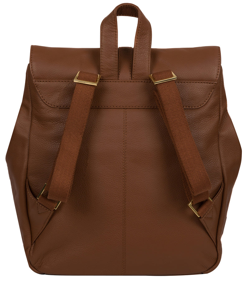 'Daisy' Tan Leather Backpack image 4