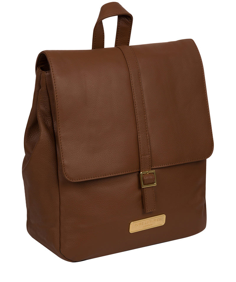 'Daisy' Tan Leather Backpack image 6
