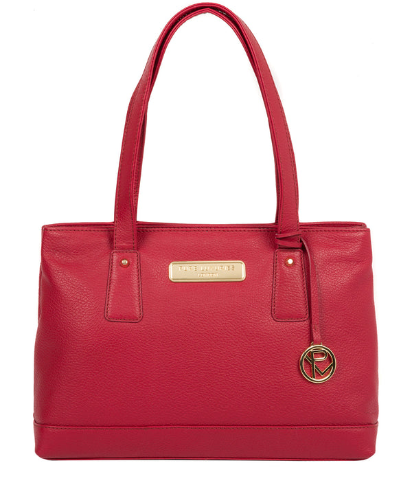 'Kate' Berry Red Leather Handbag image 1