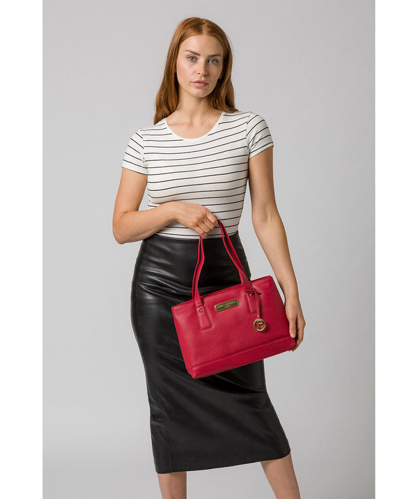 'Kate' Berry Red Leather Handbag image 2