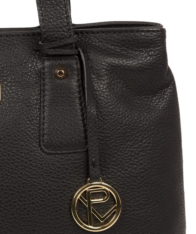 'Kate' Black Leather Handbag image 6