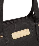 'Kate' Black Leather Handbag image 7