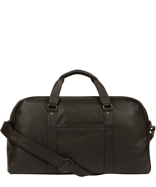 'Global' Brown Leather Holdall image 1