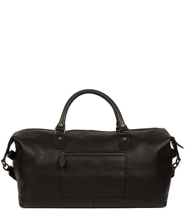 'Cargo' Black Leather Holdall image 3