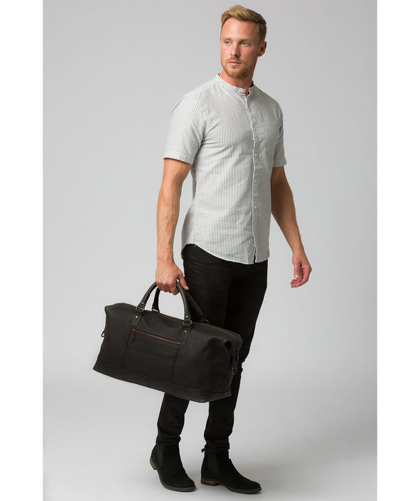 'Cargo' Brown Leather Holdall
