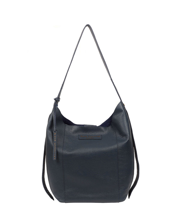 'Hoxton' Denim Leather Shoulder Bag