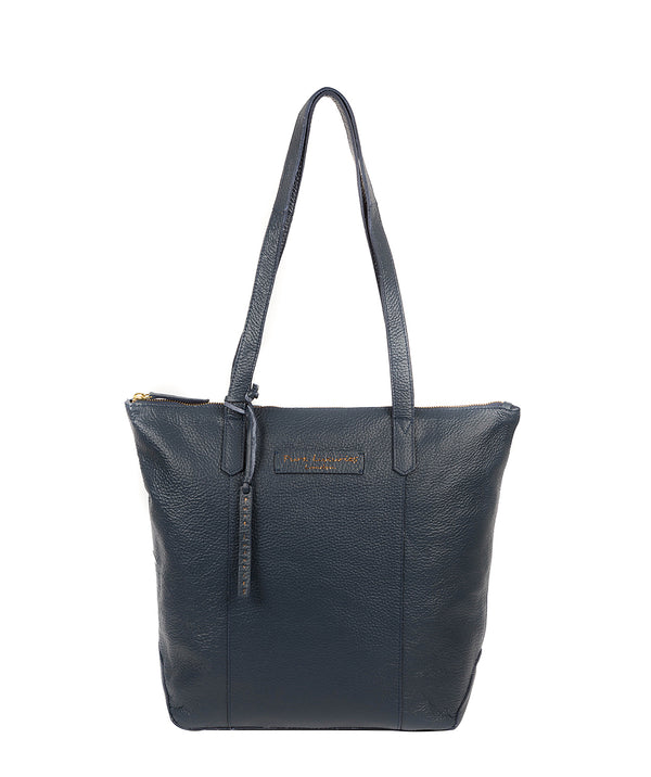 'Blendon' Denim Leather Tote Bag