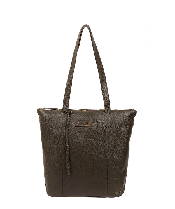 'Blendon' Hunter Green Leather Tote Bag