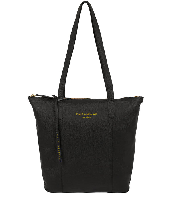 'Blendon' Jet Black Leather Tote Bag image 1