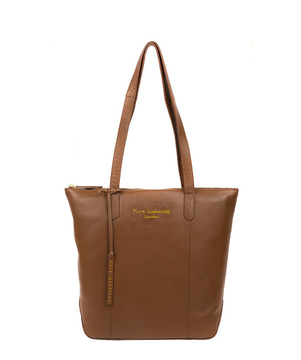 'Blendon' Tan Leather Tote Bag