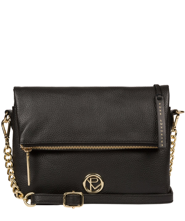 'Floria' Black Leather Cross Body Bag image 1