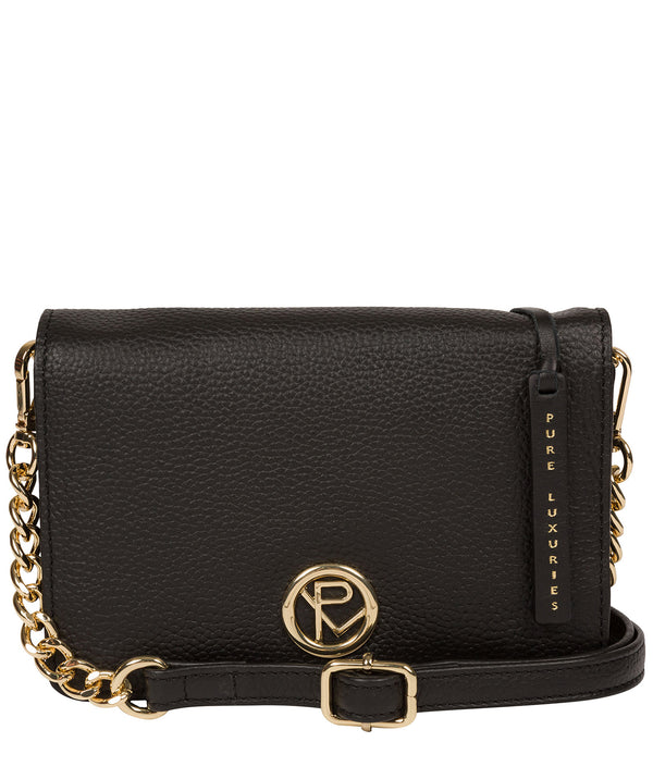 'Esmee' Black Leather Cross Body Bag image 1