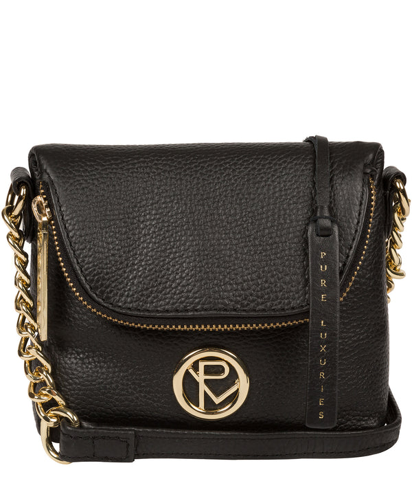 'Giselle' Black Leather Cross Body Bag image 1