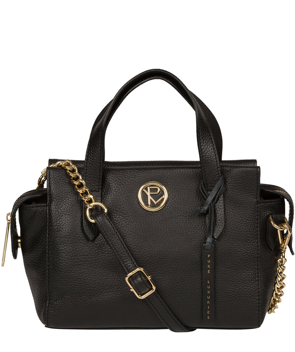 'Lisette' Black Leather Handbag image 1