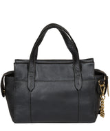 'Lisette' Metallic Blue Steel Leather Handbag image 3