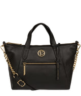 'Claudette' Black Leather Handbag image 1