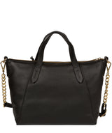 'Claudette' Black Leather Handbag image 3