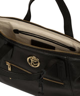 'Claudette' Black Leather Handbag image 4