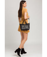 'Claudette' Black Leather Handbag image 2