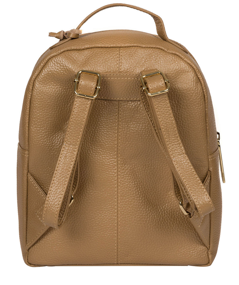 'Zuria' Metallic Champagne Leather Backpack image 3