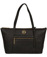 'Rosamonde' Black Leather Tote Bag image 1