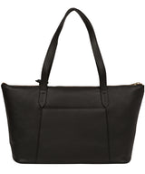 'Rosamonde' Black Leather Tote Bag image 3