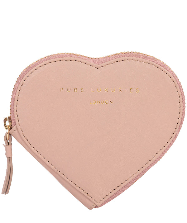 'Loughton' Blush Pink Leather Heart Coin Purse
