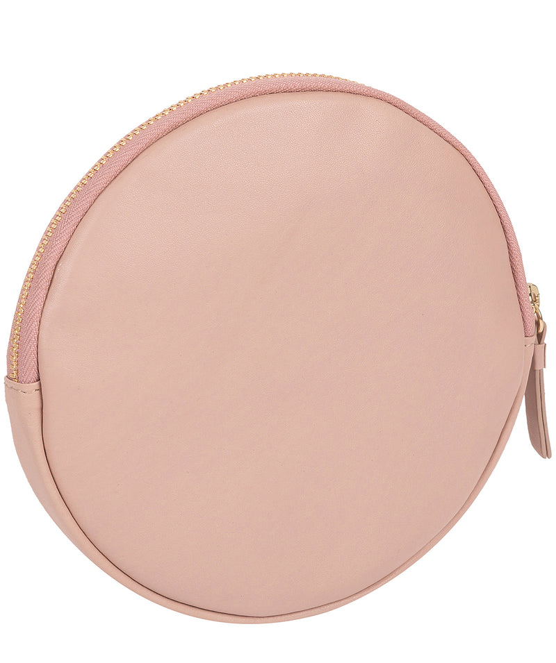'Oakwood' Blush Pink Leather Coin Purse