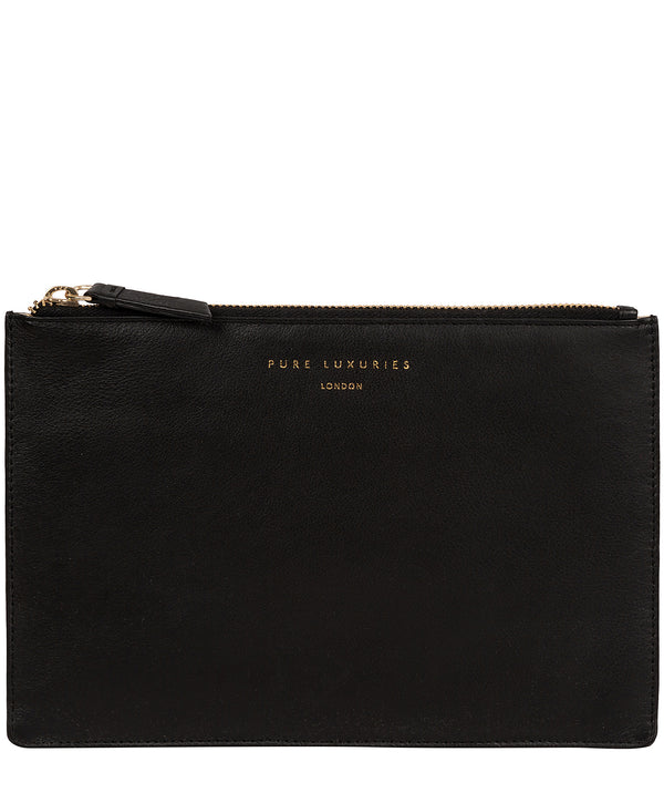 'Osterly' Black Leather Pouch