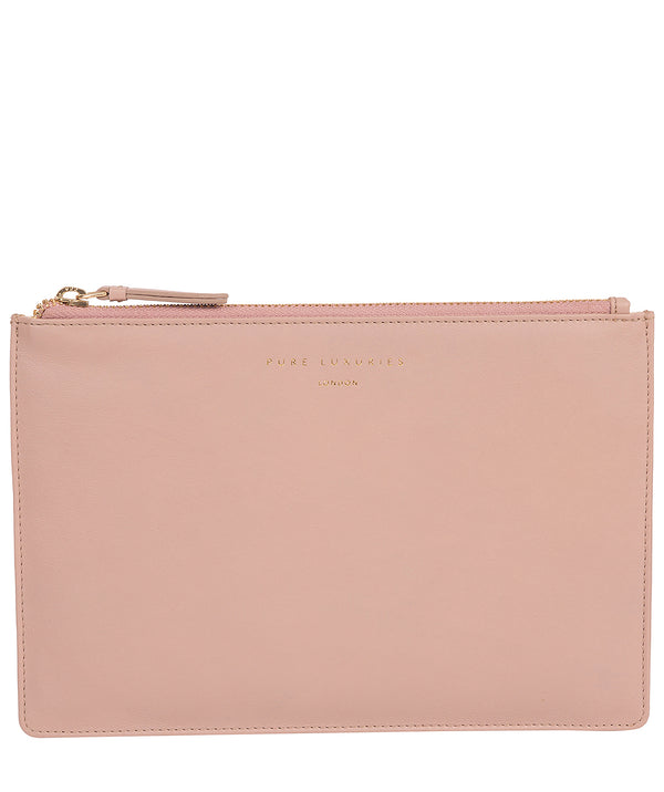 'Osterly' Blush Pink Leather Pouch