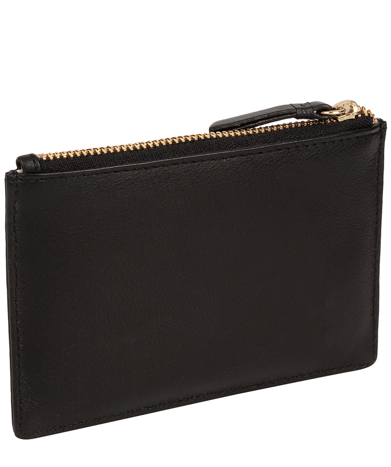 'Pinner' Black Leather Coin Purse